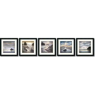 Framed Art Print 'Vanscoy Coastal Photography  - set of 5' by William Vanscoy 18 x 18-inch Each
