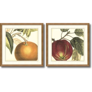 Vision Studio 'Graphic Orange & Apple- set of 2' Framed Art Print 17 x 17-inch Each