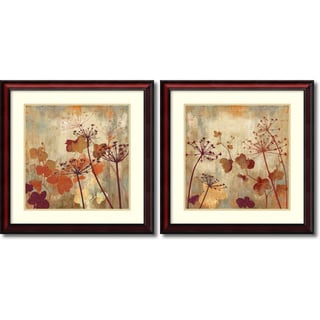 Aimee Wilson 'Wild Field- set of 2' Framed Art Print 26 x 26-inch Each