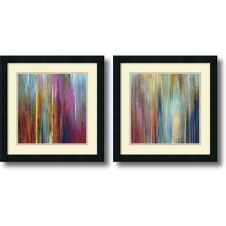 Framed Art Print 'Sunset Falls  - set of 2' by John Butler 18 x 18-inch Each