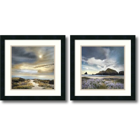 Framed Art Print 'Sense of Direction & Sweet Illusion - set of 2' by William Vanscoy 18 x 18-inch Each