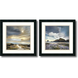 William Vanscoy 'Sense of Direction & Sweet Illusion- set of 2' Framed Art Print 18 x 18-inch Each