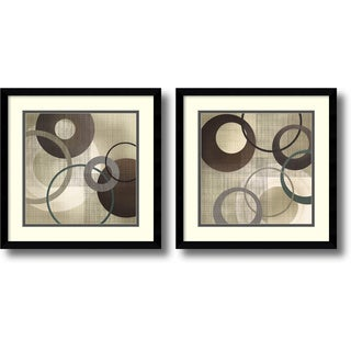 Tandi Venter 'Hoops and Loops- set of 2' Framed Art Print 17 x 17-inch Each