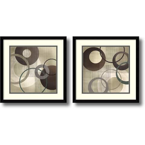 Framed Art Print 'Hoops and Loops - set of 2' by Tandi Venter 17 x 17-inch Each