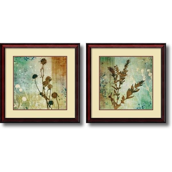 Framed Art Print 'Organic Elements - set of 2' by Tandi Venter 27 x 27-inch Each