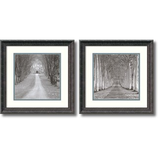 Charlie Waite 'Cranbourne, England / Epernay, France- set of 2' Framed Art Print 16 x 16-inch Each