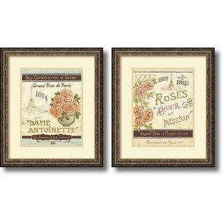 Framed Art Print 'French Seed Packets - set of 2' by Daphne Brissonnet 19 x 22-inch Each