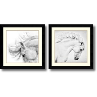 Phyllis Bruchett 'Flair & Attitude- set of 2' Framed Art Print 25 x 25-inch Each