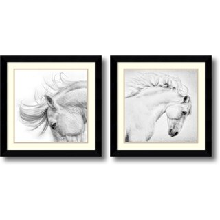 Framed Art Print 'Flair & Attitude - set of 2' by Phyllis Burchett 25 x 25-inch Each