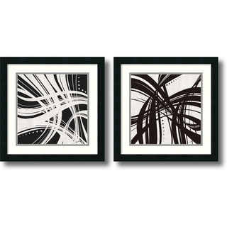 Jason Higby 'Whip It- set of 2' Framed Art Print 18 x 18-inch Each