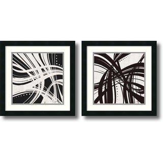 Framed Art Print 'Whip It - set of 2' by Jason Higby 18 x 18-inch Each
