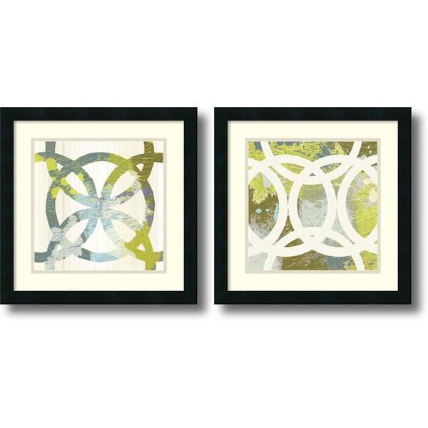 Framed Art Print 'Ornamental, Circling - set of 2' by MAJA 18 x 18-inch Each
