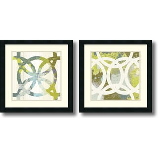 MAJA 'Ornamental, Circling- set of 2' Framed Art Print 18 x 18-inch Each