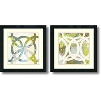 Framed Art Print 'Ornamental, Circling - set of 2' by MAJA 18 x 18-inch Each