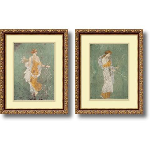 Framed Art Print 'Primavera & Diana - set of 2' by Pompeian 15 x 19-inch Each