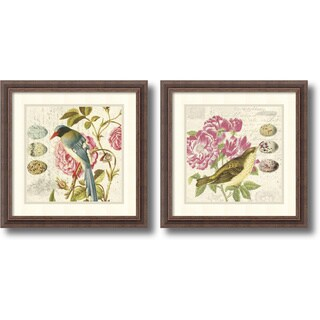 Bird Study- set of 2' Framed Art Print 18 x 18-inch Each