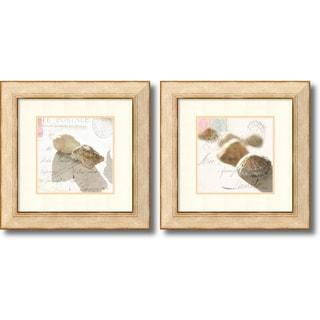 Deborah Schenck 'Postal Shells- set of 2' Framed Art Print 23 x 23-inch Each