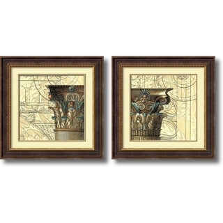 Vision Studio 'Architectural Inspiration- set of 2' Framed Art Print 24 x 24-inch Each