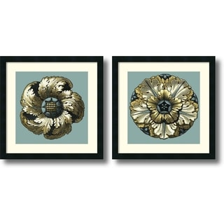 Vision Studio 'Floral Medallion II and V- set of 2' Framed Art Print 21 x 21-inch Each