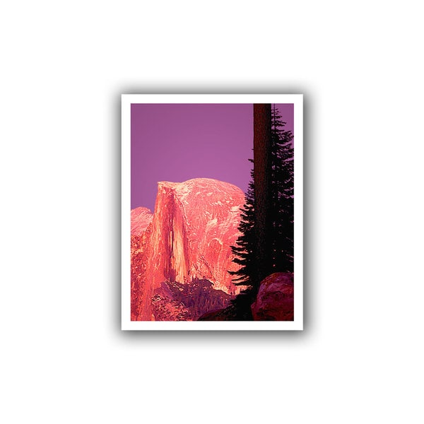 Dean Uhlinger 'Halfdome Glow' Unwrapped Canvas