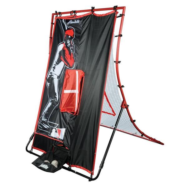 Franklin Sports MLB 65-inch 2-In-1 Switch-Hitter Flyback Return Trainer