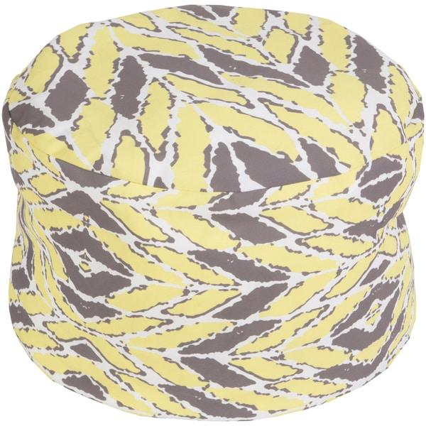 Sea Grass Chevron Indoor/Outdoor Decorative Cylinder Pouf