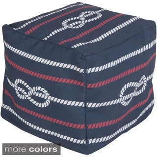 Sailors Knot Outdoor/ Indoor Decorative Cube Pouf