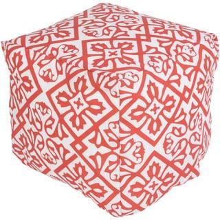 Four Leaf Outdoor/ Indoor Decorative Cube Pouf