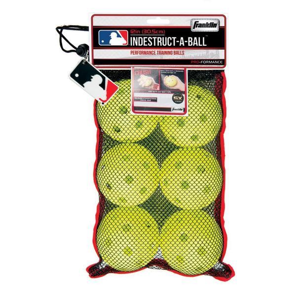 Franklin Sports MLB 11.1-inch Optic Yellow Indestruct-A-Balls Oversized Baseballs