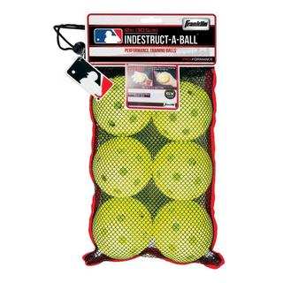 Franklin Sports MLB 11.1-inch Optic Yellow Indestruct-A-Balls Oversized Baseballs