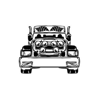 Checkered Flag Race Truck Vinyl Wall Art