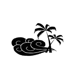 Palms Tree Ocean Beach Breeze Vinyl Wall Art