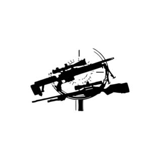 Rifles in Optics Vinyl Wall Art