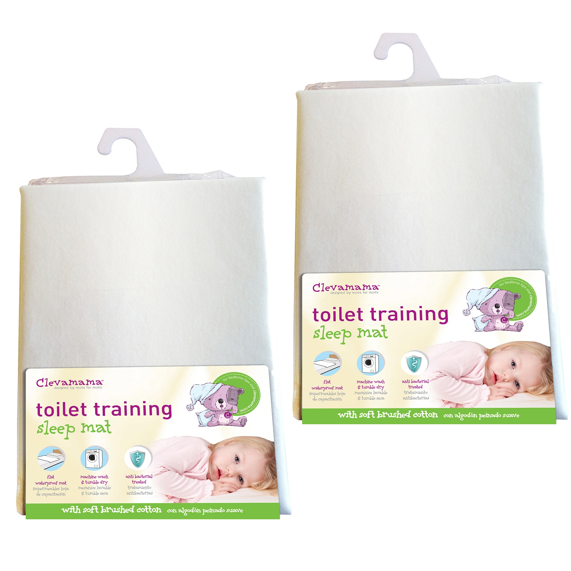 Clevamama Toilet Training Bed Mat (Pack of 2) (CLM00924),...