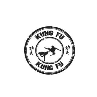 Sport Kung Fu Seal Vinyl Wall Art