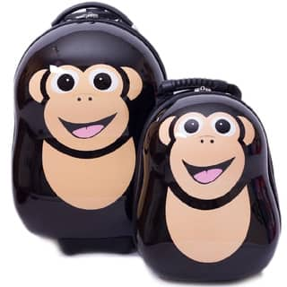 Cuties & Pals Children's Cheeki Chimp Hardside Luggage Set|https://ak1.ostkcdn.com/images/products/9172643/Cuties-Pals-Childrens-Cheeki-Chimp-Hardside-Luggage-Set-P16348936.jpg?impolicy=medium