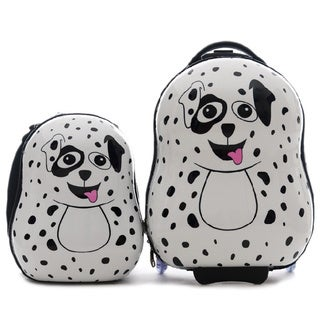 Cuties & Pals Children's Pupster Dalmatian Hardside Luggage Set