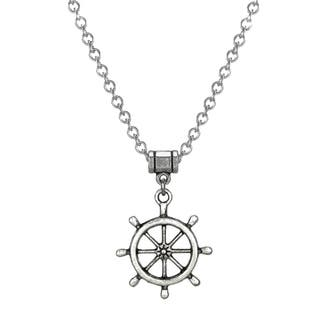 Jewelry by Dawn Stainless Steel Unisex Ship's Wheel Necklace|https://ak1.ostkcdn.com/images/products/9172694/P16349067.jpg?impolicy=medium