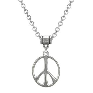 Jewelry by Dawn Stainless Steel Unisex Peace Sign Necklace|https://ak1.ostkcdn.com/images/products/9172695/P16349068.jpg?impolicy=medium