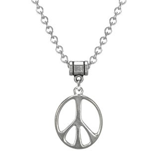 Handmade Jewelry by Dawn Stainless Steel Unisex Peace Sign Necklace