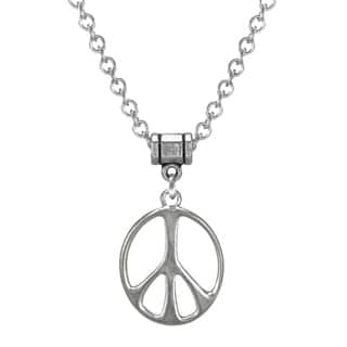 9623e719e663 Handmade Jewelry by Dawn Stainless Steel Unisex Peace Sign Necklace (USA)