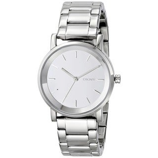 DKNY Women's NY2177 Soho Round Silver Tone Watch