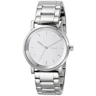 DKNY Women's NY2177 Soho Round Silver Tone Watch|https://ak1.ostkcdn.com/images/products/9172725/DKNY-Womens-NY2177-Soho-Round-Silver-Tone-Watch-P16349097.jpg?impolicy=medium