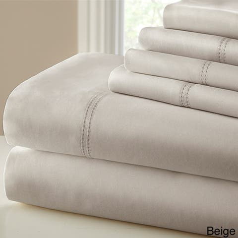 Modern Threads 1000 Thread Count Blend Double Hem Stitch 6-piece Bed Sheet Set