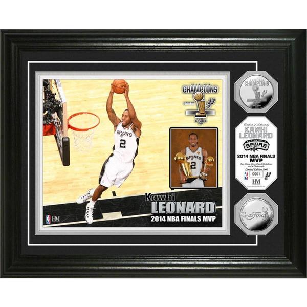 San Antonio Spurs 2014 NBA Finals MVP Silver Coin Photo Mint