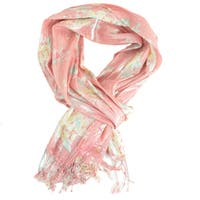 LA 77 Women's Shimmer Floral Printed Scarf