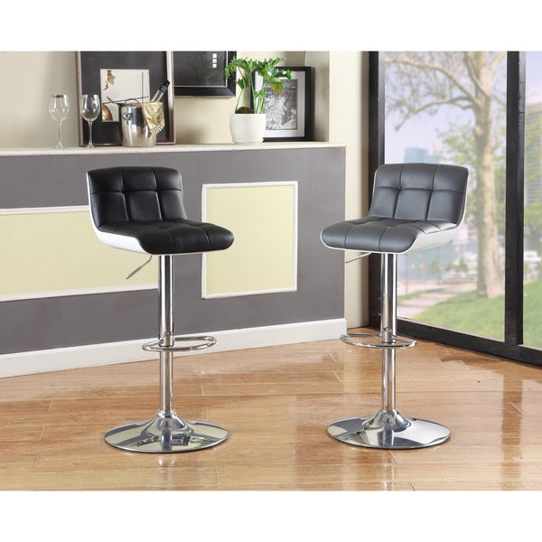 Furniture Of America Brewser Height Adjustable Swivel Leatherette Bar Stool Free Shipping