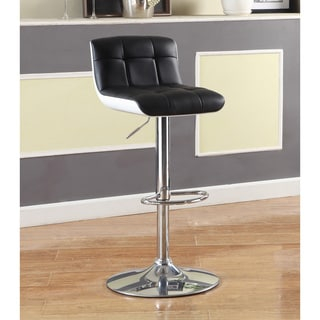 Furniture of America Brewser Height Adjustable Swivel Leatherette Bar Stool