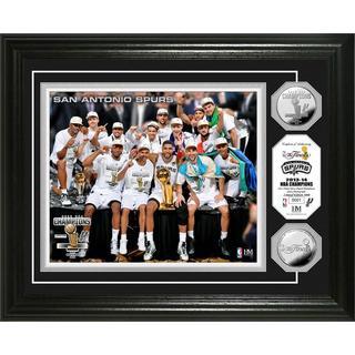 San Antonio Spurs 2014 NBA Finals Champions Celebration Silver Coin Photo Mint