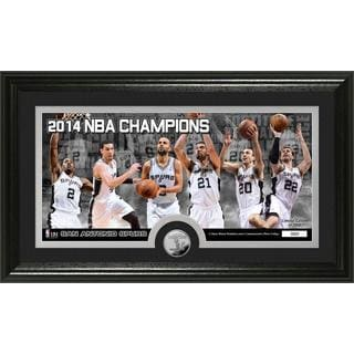 San Antonio Spurs 2014 NBA Finals Champions Panoramic Minted Coin Photo Mint